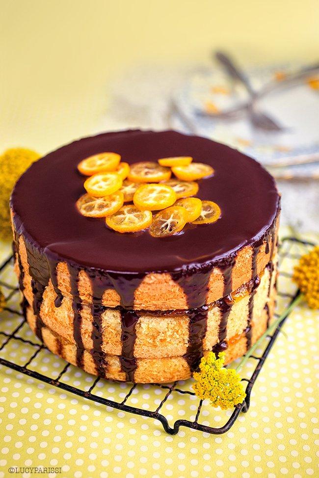 オレンジとチョコレートのケーキ