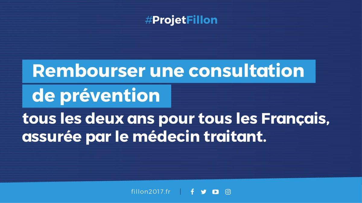 Je propose de mieux soigner, c'est-à-dire mieux prévenir avec une prise en charge d'une consultation tous les deux ans. #RDVPlacedelaSante
