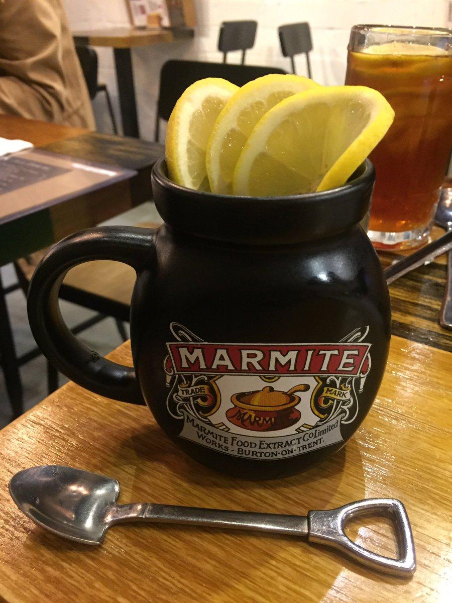 Hot lemon water in a marmite cup. #HongKong #foodie #Tuesday