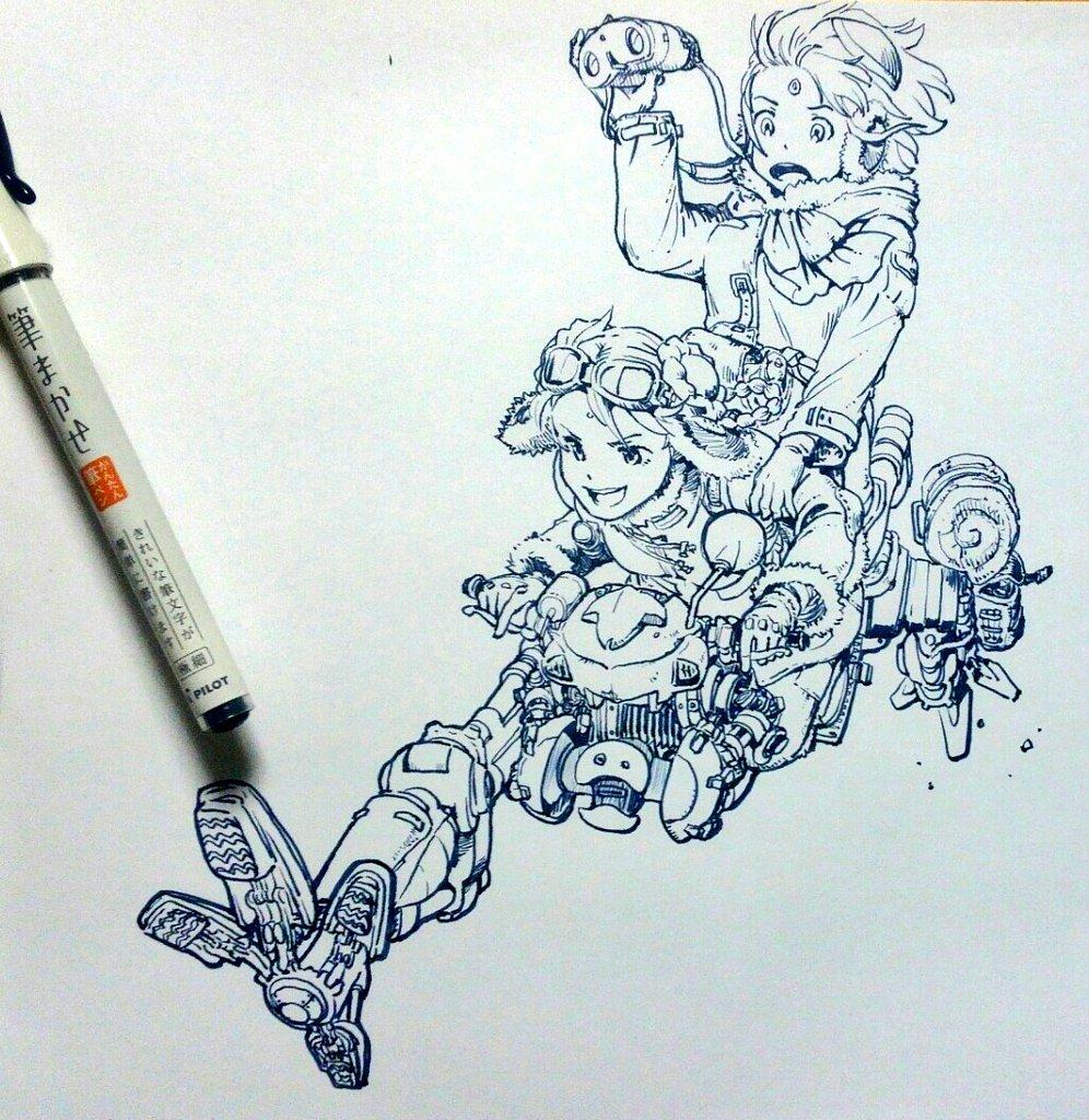 PILOTの筆まかせ #あなたの一発描き見せてください ラライヤ&ノレド #gレコ