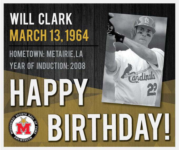 Happy Birthday, Will Clark! Learn more: