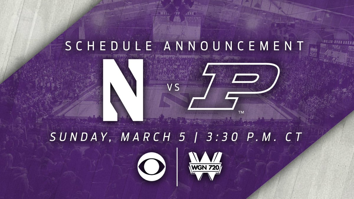 RT @NUMensBball: The nation will have the opportunity to watch the final game at Welsh-Ryan Arena.   #B1GCats | #PoundTheRock https://t.co/…