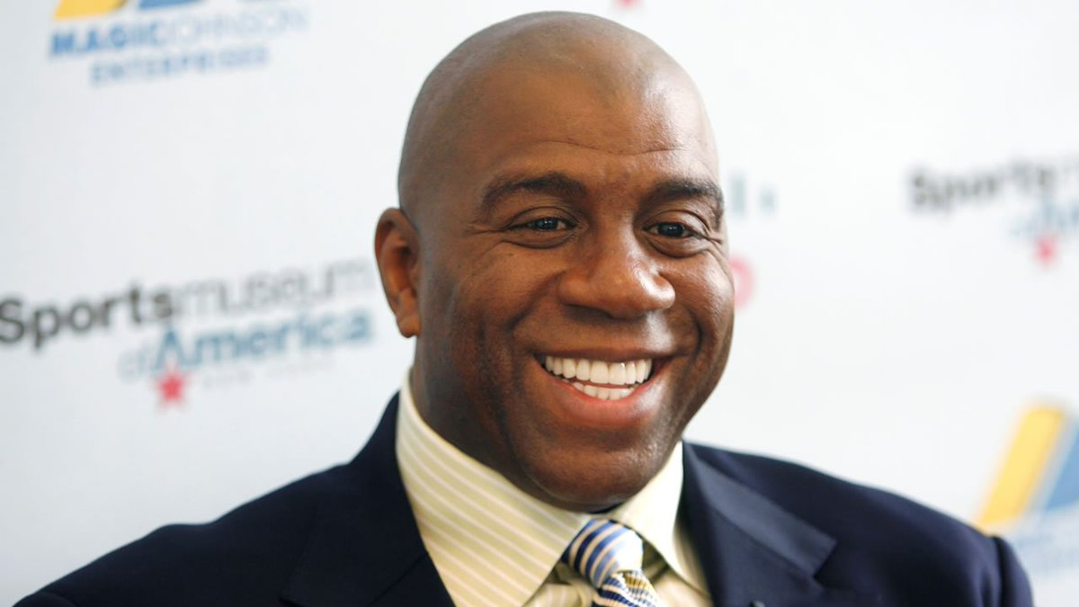 THIS JUST IN Lakers name Magic Johnson president of basketball operations