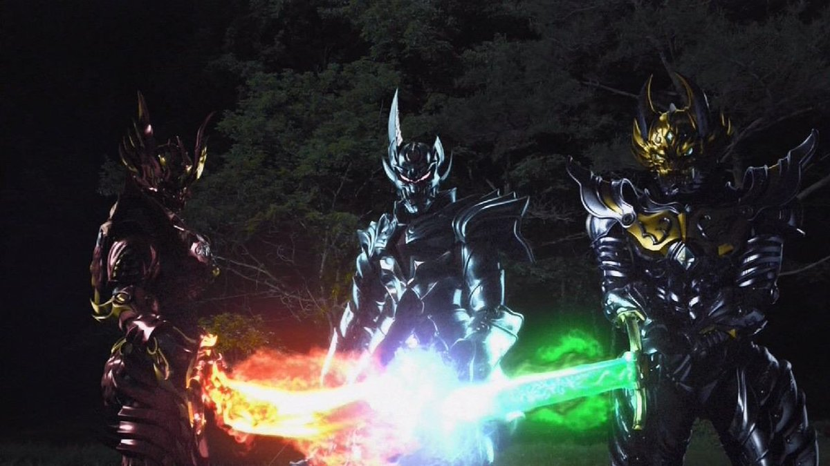 三騎士と言えば、黄金騎士ガロ(道外流牙)・天弓騎士ガイ(楠神哀空吏)・炎刃騎士ゼン(蛇崩猛竜)の再結集にも期待したい。闇