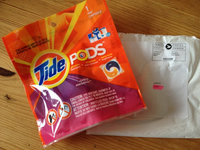 FREE Tide Pod Samples==> FreebieFriday Coupons freebie samples giveaway FreeSAMPLE