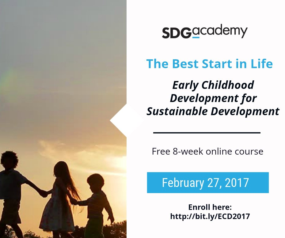 #EarlyMomentsMatter! Learn about the science behind children's development with the @SDG_Academy #ECDMOOC: https://t.co/HKZU7z7sBi