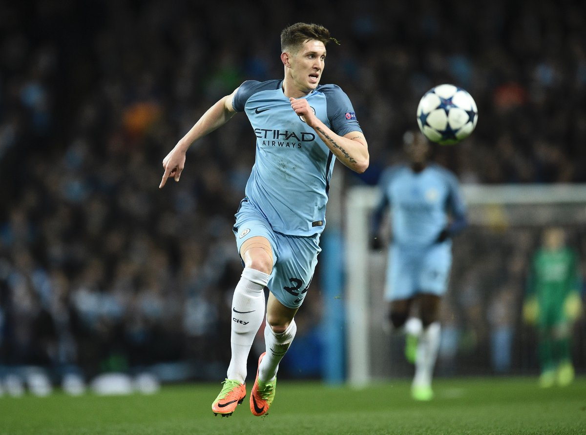 John stones game by numbers vs monaco 95% pass accuracy 0 aerial