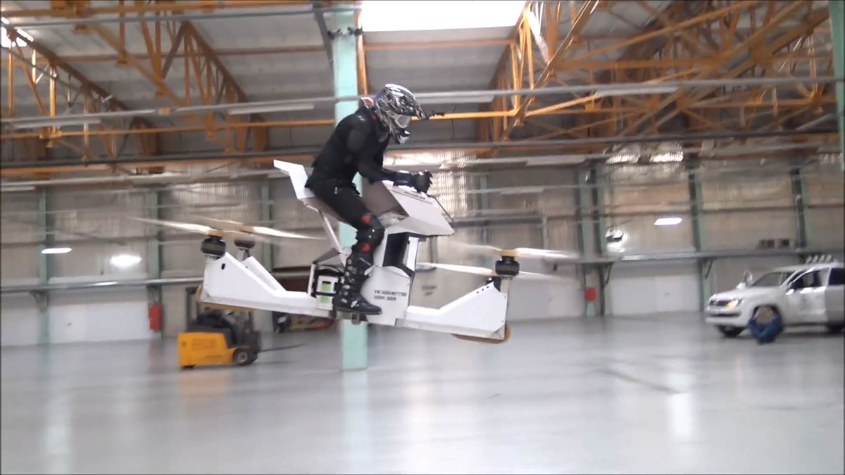 The world's first rideable hoverbike looks cool as hell but will probably kill you