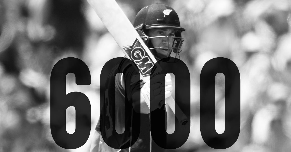 A half-century for Ross Taylor and another special milestone. Fastest Kiwi to 6,000 ODI runs! #NZvSA ^WN