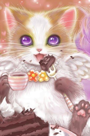 今日は猫の日ですね!なので 猫の絵を!数年前に描いた「ミカグラ学園組曲」のビミィです♪