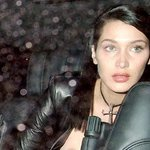 Bella Hadid's boob pops completely out as she leaves London Fashion week