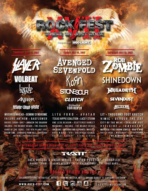 Single day tickets are on sale now for @rockfestwi: https://t.co/GA0Pv3OjGd https://t.co/RPWhe19GfJ