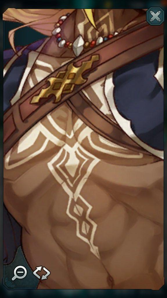 エンドライドってキャラクター詳細で拡大できるのいいねタイガさんの雄っぱい