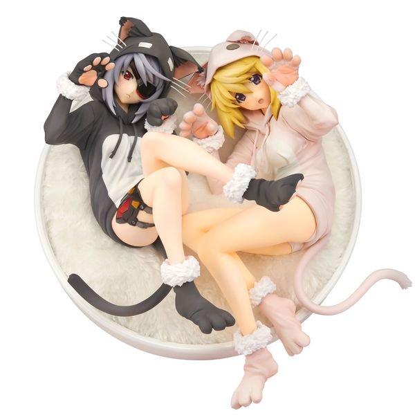 【猫の日】#ニャンニャンニャンの日IS<インフィニット・ストラトス> ラウラ&シャル ネコミミパジャマ #IS #インフ