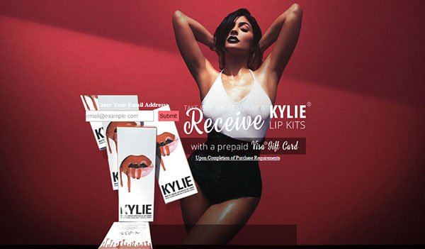 Get Kylie Lip Kits freebies free_stuff sample usa _free_samples