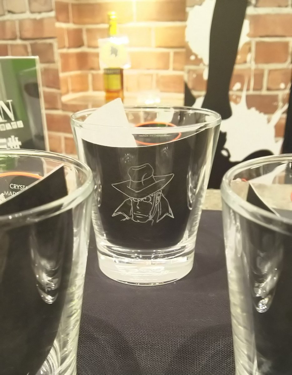 次元のバーでは、リーデルのこのグラスで飲んだのでした✨🍷💎銭形警部大好き😍#伊勢丹ルパン#伊勢丹のアジトに潜入せよ #ル