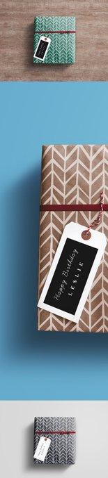 Gift Wrap Box PSD Mockup free freebie freebies gift mockup