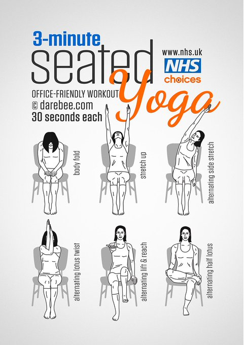Try this seated Yoga workout to fight off stiffness. More here: https://t.co/g8Clotx6Bx