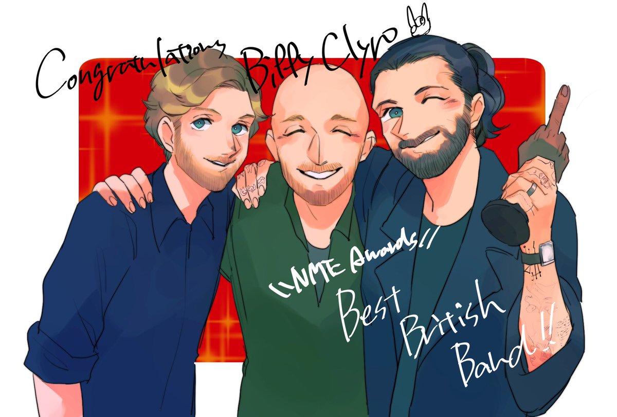 めちゃくちゃ遅刻だけどBest British Bandおめでとう🎉🎉🎉次はBrits!!!頑張って💪💪 ついでに日本にも来てね