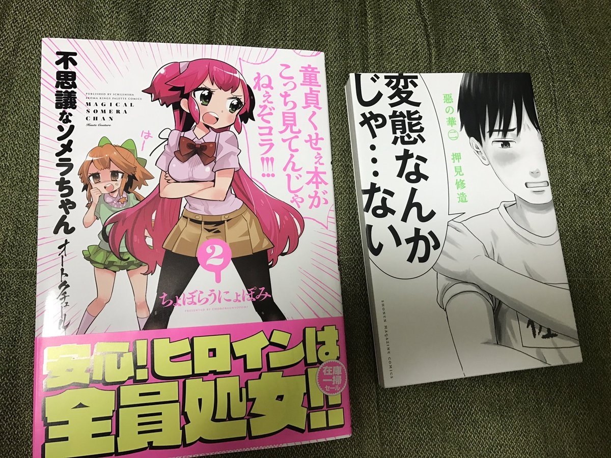 不思議なソメラちゃんオートクチュール2巻買ったんで僕の家にある最も童貞くさい本と並べました、これから読みます。あとアニメ