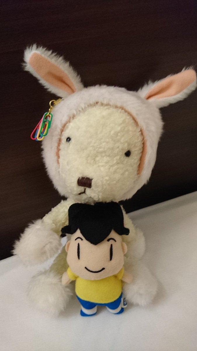 今回の旅行には慎吾が神を短くした時に似てるアシベ&うさくまちゃんを仲良く一緒に連れてきたよ💚うーん♪やはり この