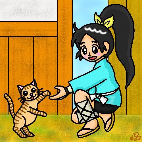 今日は、猫の日と忍者の日と言うことなので、今年は「信長の忍び」から千鳥を描きました。(*'ω'*)忍者の日は初めて聞きま