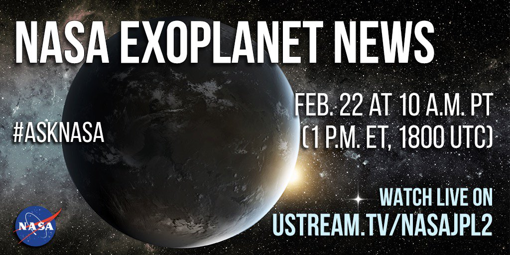 Tune in today for @NASA news from beyond our solar system. Tag Qs #askNASA Watch https://t.co/m5nDowSkoT Info https://t.co/LIpezgPrCC