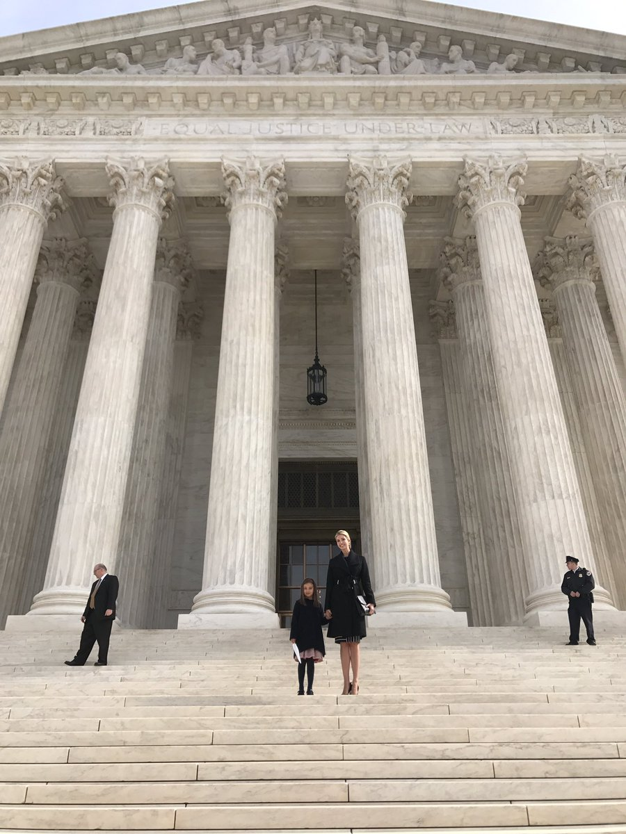 Ivanka Trump on Supreme Court visit: 'Grateful for the opportunity to teach' daughter 'about the judicial system in our country firsthand.'