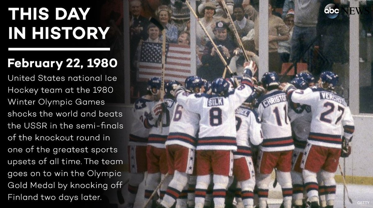 On this day 37 years ago, the 'Miracle on Ice' occurred when the U.S. ice hockey team upset the USSR in the 1980 Winter Olympics.