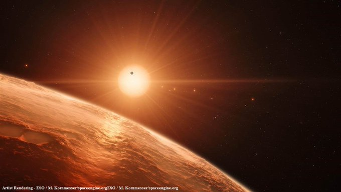 JUST IN: NASA: New Earth-sized exoplanets discovered; may contain water and be able to sustain life. https://t.co/gJ1sQvB4dD