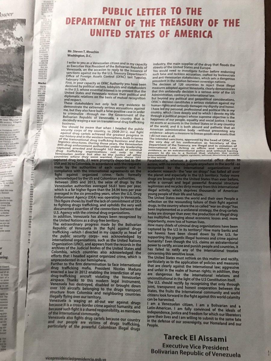 Sólo un narco puede pagar US$215.000 por anuncio de página entera en el New York Times. Sueldo de vicepresidente no alcanza para ese aviso.