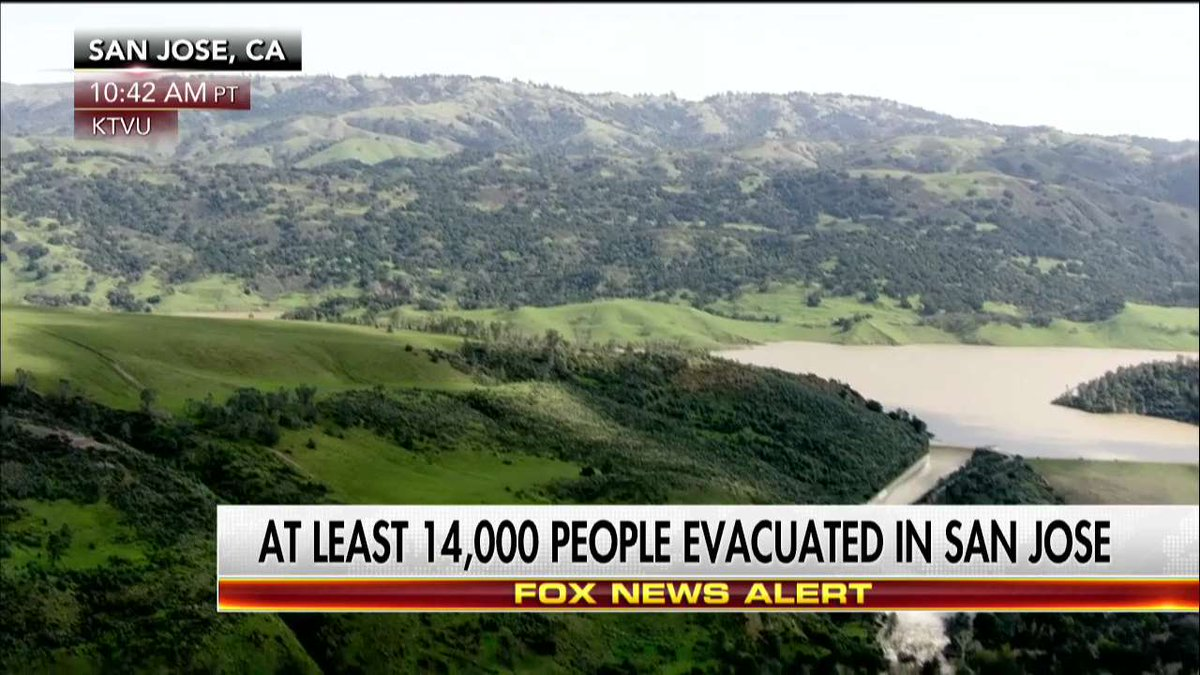 News Alert: At least 14,000 people evacuated in San Jose.