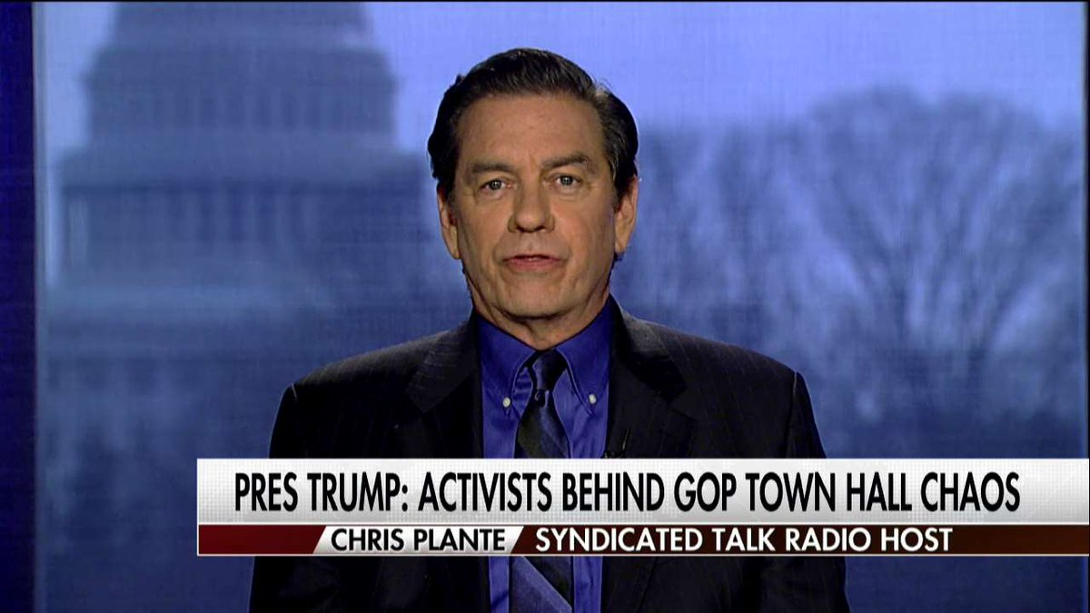 .@ChrisPlanteShow on town hall activists: 'These online groups can get people to turn out whether they're from the district or not.'