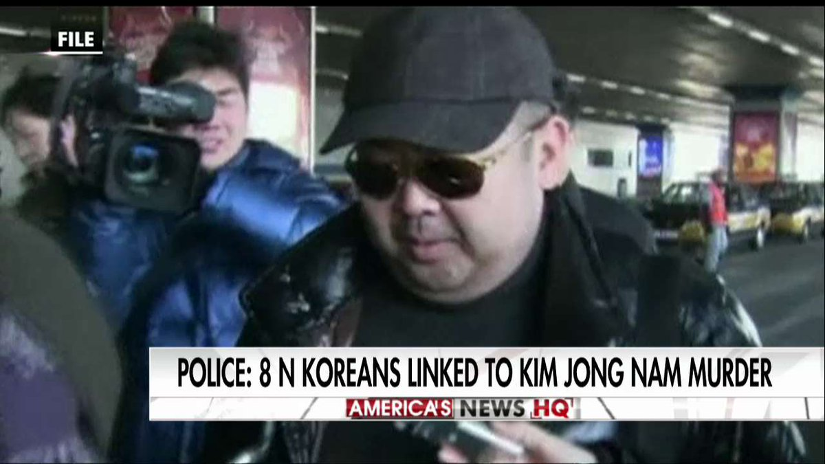 Police: 8 North Koreans linked to Kim Jong Nam murder. https://t.co/pdVDBz6BRs