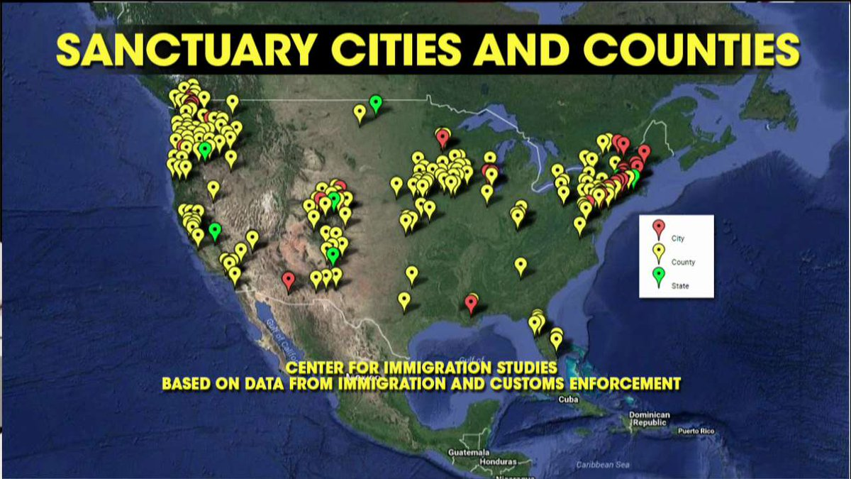 Sanctuary cities and counties.