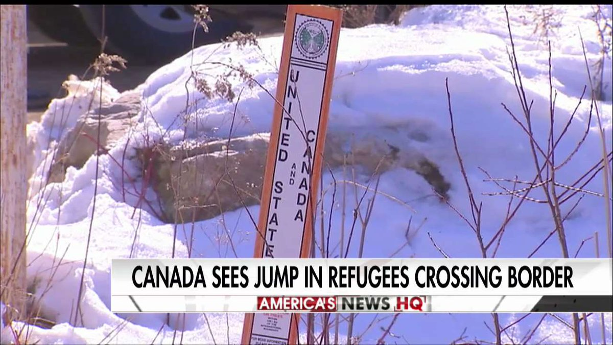 Canada sees jump in refugees crossing border. https://t.co/mL9Ai9lxDv