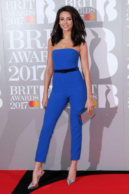 Celebs spotted backstage on be red carpet at the Brit Awards. Michelle Keegan, Ellie Goulding, Emeli Sande and Rita Ora. #BRITs2017