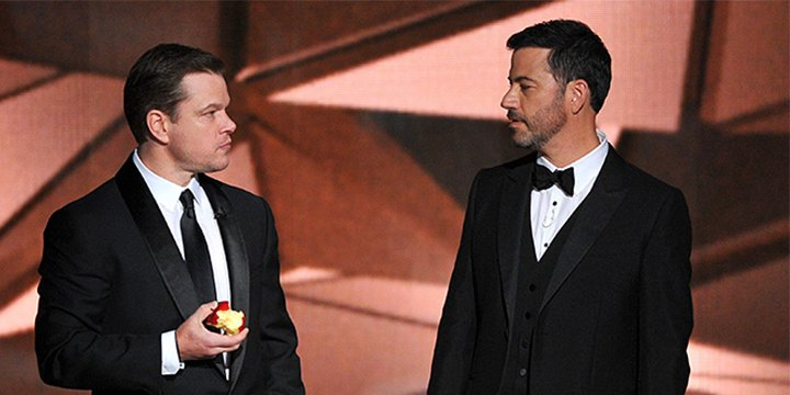 "Jimmy Kimmel ribs Matt Damon on his Oscars nomination: ""Of course I'm rooting against him"""
