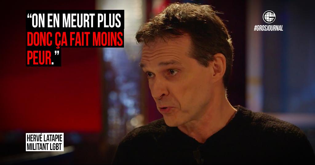 «On en meurt plus, donc ça fait moins peur» - Hervé Latapie au #GrosJournal https://t.co/l2ZfDgNLfH