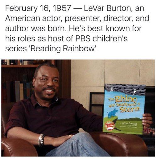 Lagonegirl: Happy Birthday, LeVar Burton!  The actor, director...