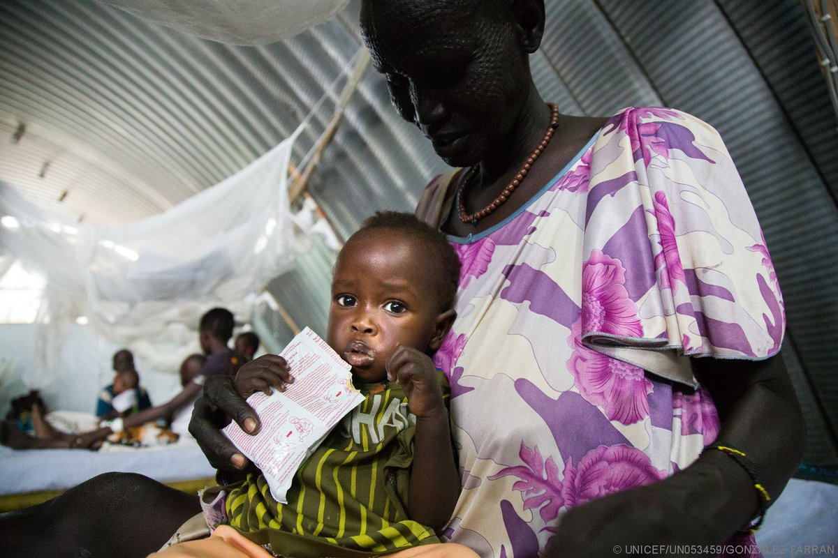 Goanar, 10-months-old, recovering at a malnutrition ward in #SouthSudan where famine has been declared. You can help https://t.co/NpB1gz8dk8