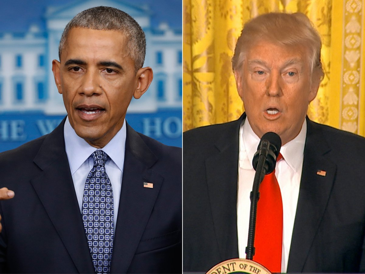 Fake news headline claims former President Obama is planning a coup against President Trump.
