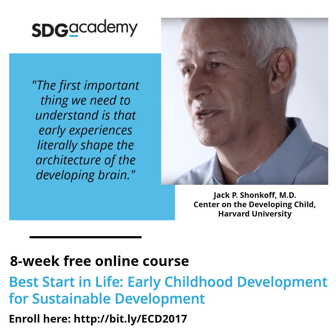 #EarlyMomentsMatter! Join @HarvardCenter professor at the new @SDG_Academy course: https://t.co/HKZU7z7sBi #ECDMOOC