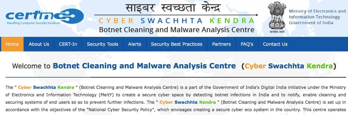 Indian govt launches anti virus and Botnet cleaning products (and they are cool)  ! https://t.co/Wv9Ig12nuL