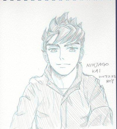 #ninjago KAI in plain clothesドヤ顔 平服 この髪型のアオリ(といっても大した角度では無い)