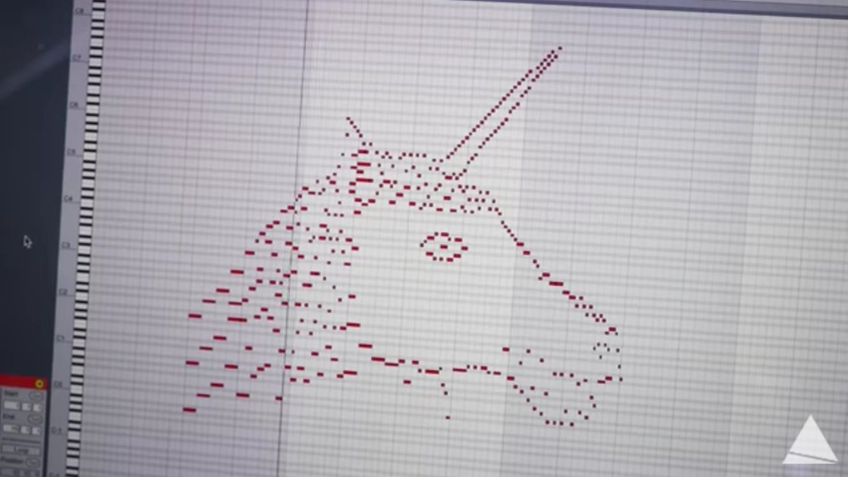 This is a drawing of a unicorn. It's also a song: https://t.co/Ggngx9YbDW https://t.co/sQbeivxK5O