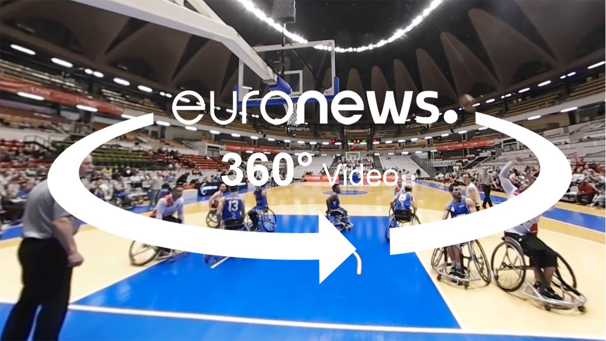 Wheelchair basketball talent showcase in 360 video