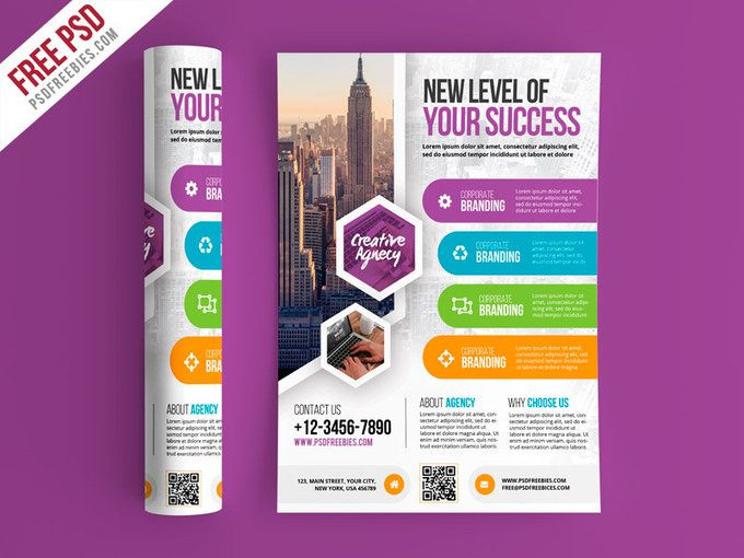 Multipurpose Business Flyer PSD Template Flyers Print freepsd psd freebie download