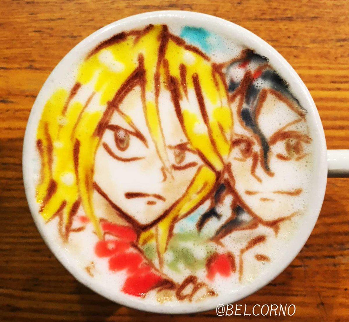ラテアート【青八木 一】LatteArt【Yowamushi Pedal】本日お誕生日で一杯。Happy Birthda