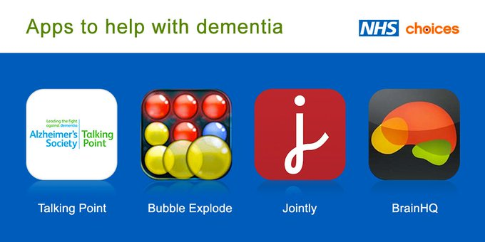 Whether you have a dementia diagnosis or you care for someone with the condition, there are apps to help: https://t.co/FCuUOT4MwN